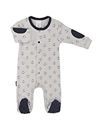 Blue Banana Baby Boys Front Snap Sleeper, Grey Print, Preemie
