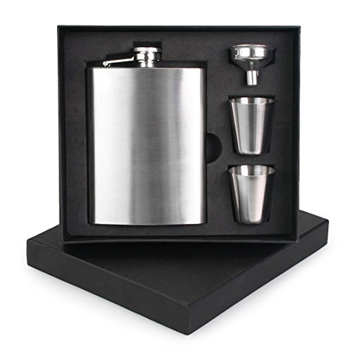 Premium 8oz Hip Flask By Solid