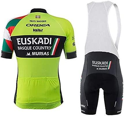 WOLFIRE WF Traje de Ciclismo para Hombre de Equipos. Culotte y Maillot. con 5D Gel Pad. para MTB, Spinning, Bicicleta de Carretera