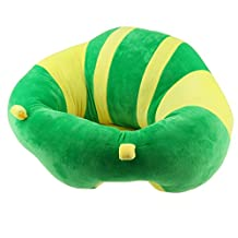 Dovewill Newborn Baby Support Seat Sit Up Chair Cushion Sofa Cotton Plush Pillow Toy - Style 1-Green, as described