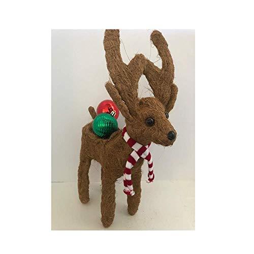 - Coco Fiber Reindeer Topiary Planter - Set of 5