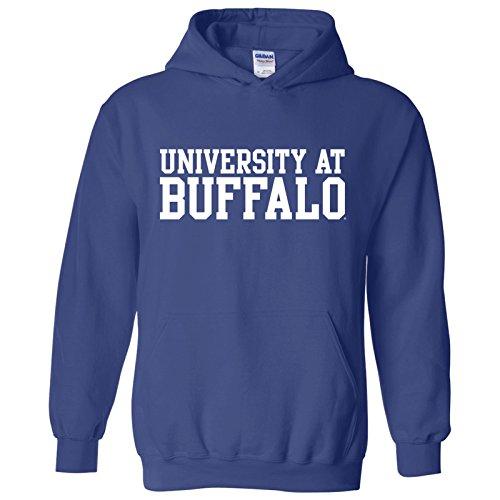 Apparel Buffalo (AH01 - University at Buffalo Bulls Basic Block Hoodie - Large - Royal)
