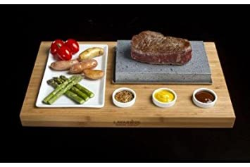 Amazon Com Lava Rock Cooking Stone Set Kitchen Dining