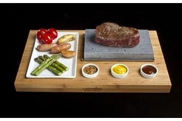 Amazon Com Lava Rock Cooking Stone Set Kitchen Dining