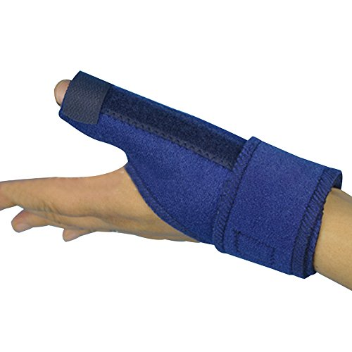 Genmine Thumb Spica Splint, Trigger Thumb Brace for Pain, Sprains, Strains, Arthritis, Carpal Tunnel & Trigger Thumb Immobilizer- CMC Joint Thumb Stabilizer (Left Hand) by Genmine