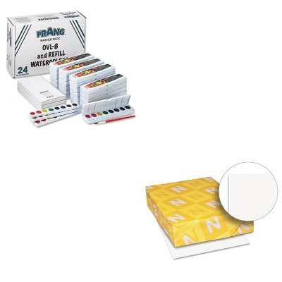 KITDIX08020WAU40411 - Value Kit - Prang Professional Watercolors (DIX08020) and Neenah Paper Exact Index Card Stock (WAU40411) by Prang