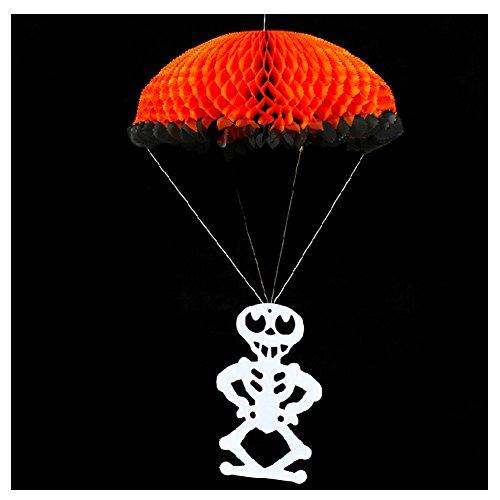 2pcs Halloween theme party scenario decorations Folding origami Parachute skeleton home handicraft Halloween Bar decoration]()