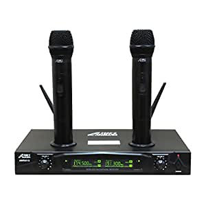 audio 2000s awm6113 dual channel rechargeable vhf wireless microphone system. Black Bedroom Furniture Sets. Home Design Ideas