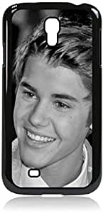 linJUN FENGJustin Beiber - close up - Hard Black Plastic Snap - On Case with Soft Black Rubber Lining-Galaxy s4 i9500 - Great Quality!