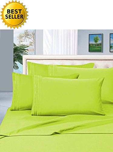 1 rated best seller luxurious bed sheets set on amazon celine linen thread count wrinklefade and stain resistant 4piece bed sheet set