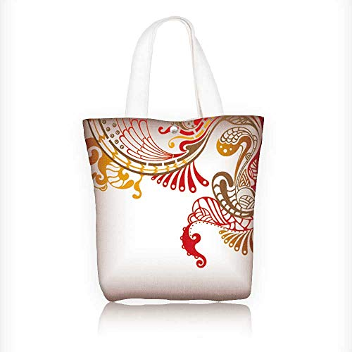 Canvas Shoulder Hand Bag Abstract Floral Background and Birds Tote Bag for Women Large Work tote Bag Shoulder Travel Totes Beach Bag W11xH11xD3 - Rug Floral Catalina
