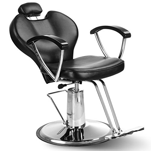 FCH Hydraulic Barber Chair Professional Portable Lift Man Barber Chair FCH All Purpose Classic Styling Salon Spa Beauty Shampoo Hair Work Station Chair Swivel Grooming Equipment