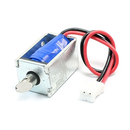 uxcell DC 12V 0.85A Balance Connecting Open Frame Pull Type Tubular Electric Solenoid 1mm 100g 3mm (Open Tubular Frame)