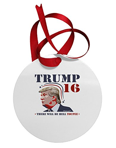 TOOLOUD Trump – Hell Toupee Circular Metal Christmas...