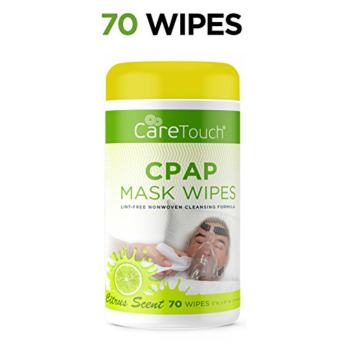 (Care Touch CPAP Cleaning Mask Wipes - Citrus Scent, Lint Free - 70 Wipes Each (70)