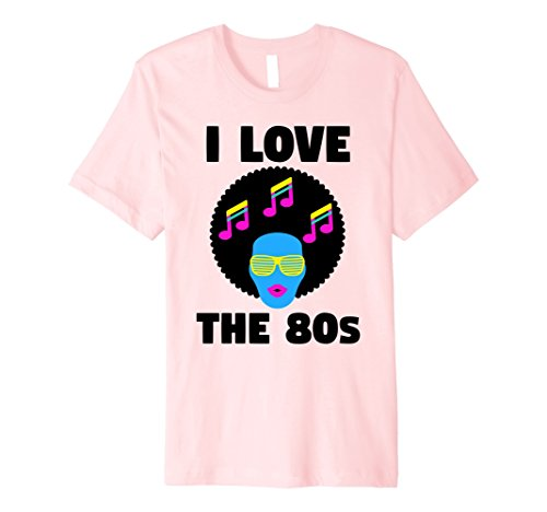 Mens I Love The 80's Eighties - Vintage Disco Music Neon T-Shirt Medium (80s Male Outfits)