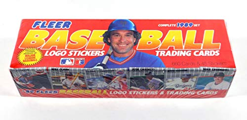 1989 Fleer Baseball Cards Complete Factory set of 660 Cards + 45 Stickers - -