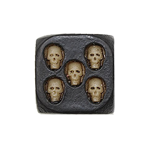 Grandey 5Pcs/Set European and American Black Skull and Bones Dice Game 181818mm