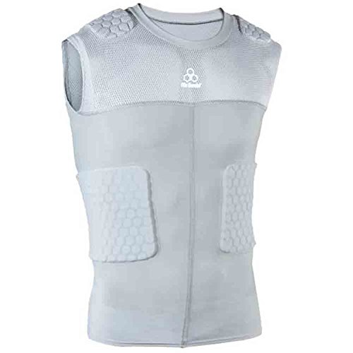 Mcdavid Hexpad Sleeveless - Mcdavid Classic 7870 Hex Pad Mesh Sleeveless 5 Pad Body Shirt Grey Medium