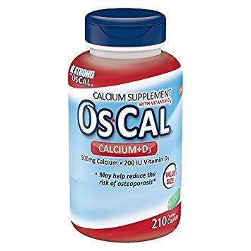 Os-Cal 500 + D, Calcium 500 mg., D3 200 I.U., 210 Coated Caplets (2 Pack) by Oc-Cal