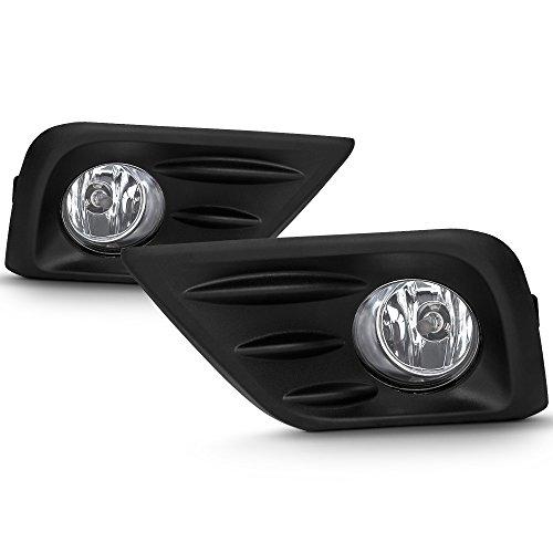 VIPMOTOZ Black Bezel OE-Style Front Fog Light Driving Lamp Housing Assembly For 2016-2018 Nissan Altima, Driver & Passenger Side