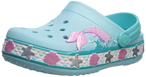 Crocs Kids' Fun Lab Mermaid Band Clog, Ice Blue, 5 M US Toddler (Crocs Kids Clogs)