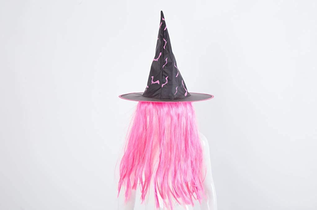 AOJJ Halloween Decorative hat Party Masquerade Props. Wig Witch hat Decoration