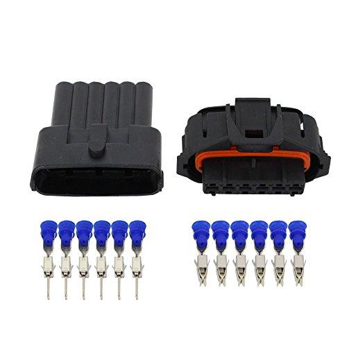 CNLW 1 Set 6 Pin Connector Car Wiring Plug Wire Connector DJB7069YB-3.5-11/21: