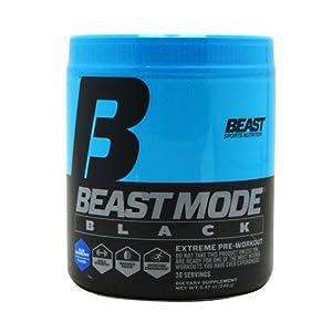 Beast Sports Nutrition Mode Black 30 Serve Pre-Workout Supplement, Pink Lemonade, 8.15 Ounce