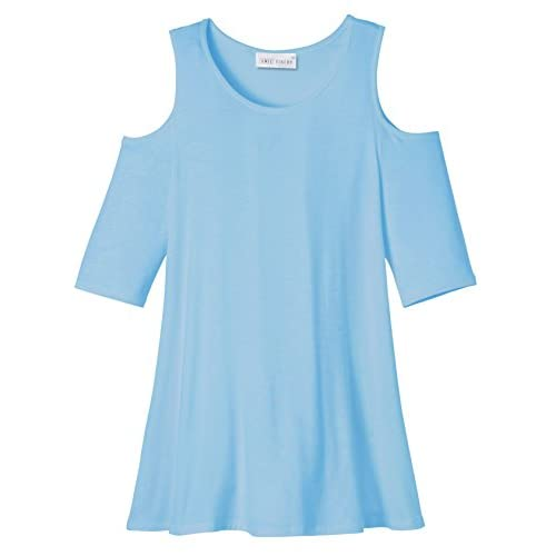 Top Amie Finery Cold Shoulder Tops For Women Open Shoulder Tunic Tops For Leggings Made In USA