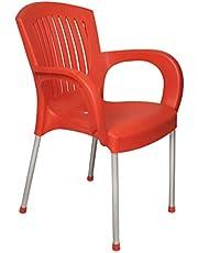 كرسي بمسند للذراع كامليا من الهلال والنجمة، 90×52.5 سم - احمر