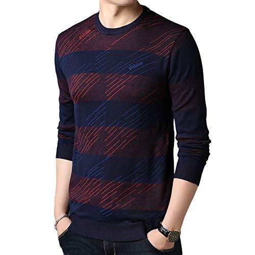 Langarm Winter Pullover Herbst Pullover Solide Herren Rot