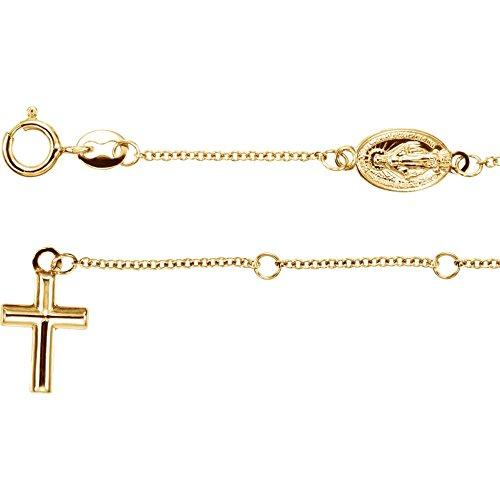 Rosary Bracelet by DiamondJewelryNY