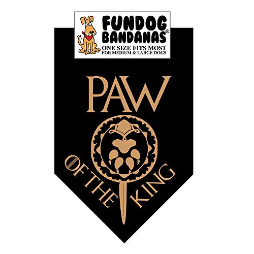 Paw of The King Dog Bandana (Game of Thrones) (One Size Fits Most for Medium to Large Dogs) -