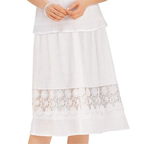 Collections Etc Women's White Crochet Lace Skirt, White, XX-Large Collection Women Skirts