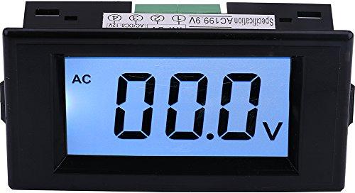 - Yeeco AC 0-199.9V LCD Display Digital Voltmeter Voltage Meter Volt Testing Gauge Voltage Measuing Volt Panel Meter