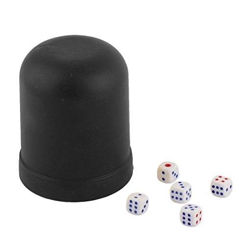 uxcell Party Club KTV Casino Guessing Gaming Gambling Shaker Case Bet Stake Dice Cup (Club Casino Dice)