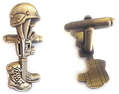 Fallen Soldier Battlefield Cross Suit Tuxedo Cufflinks Cuff Links Set (Fallen Soldiers Cross)