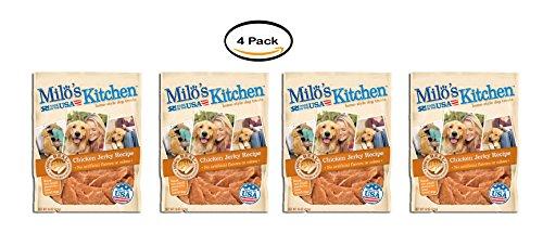 PACK OF 4 - Milo's Kitchen Chicken Jerky Strips Dog Treats, 15-Ounce