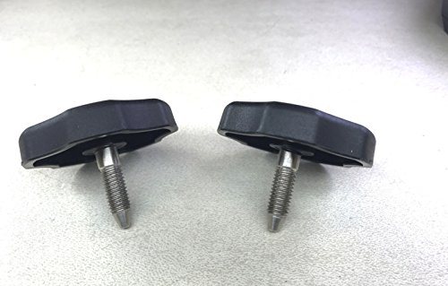 2-each 2007-2016 Jeep Wrangler Jk Soft Top Window Frame Short Knob Pin/ Bolt (Top Mounting)