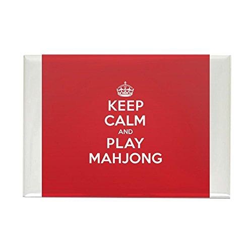 (CafePress Keep Calm Play Mahjong Magnets Rectangle Magnet, 2