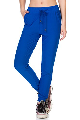 - My Yuccie Women's Comfy Jogger Pants with Zipper Side Pockets (S - XL) (Royal Blue, X-Large)
