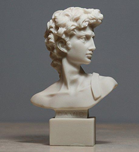 King DAVID Bust Statue Sculpture Handmade Made in Greece (David Bust)