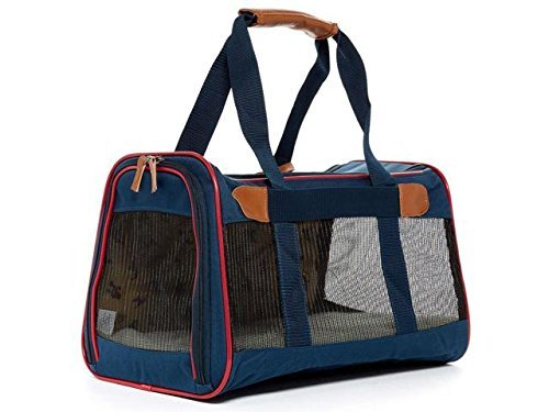 (Sherpa Element Standard Pet Carrier Dog Cat Navy w/Red Trim Medium Airline Approved)