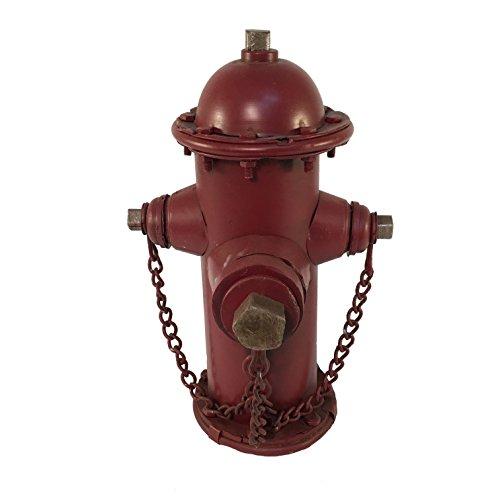 Blue Sky Ceramic Fire Hydrant Bank Home Decor, 10