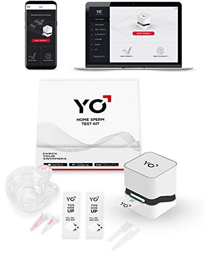 YO Home Sperm Test for Android and Windows PC Devices | Check Description for Compatibility | Includes 2 Tests | Men's Motile Sperm Fertility Test | Check Moving Sperm and ()