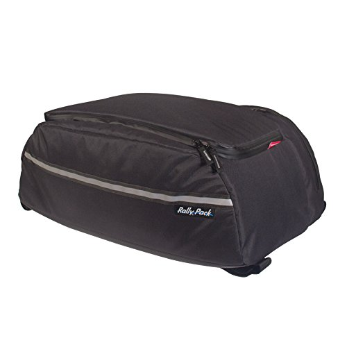 10 Water Resistant Reflective Touring Motorcycle Trunk Bag: Black, 40 Liter Capacity ()