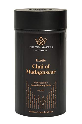 The Tea Makers of London Tee Chai of Madagaskar Honigbuschtee mit exotischen Früchten Früchtetee vom Teekontor, 1er Pack (1 x 125 g)