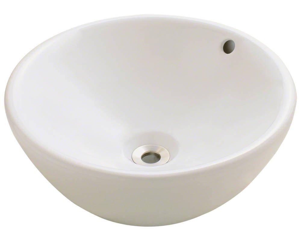 Polaris Sinks P0022VB Bisque Porcelain Vessel Sink
