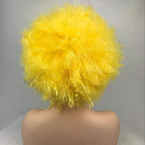 Wig Synthetic Hair Pink/Yellow Clown Wigs Cosplay Halloween Yellow 6inches ()